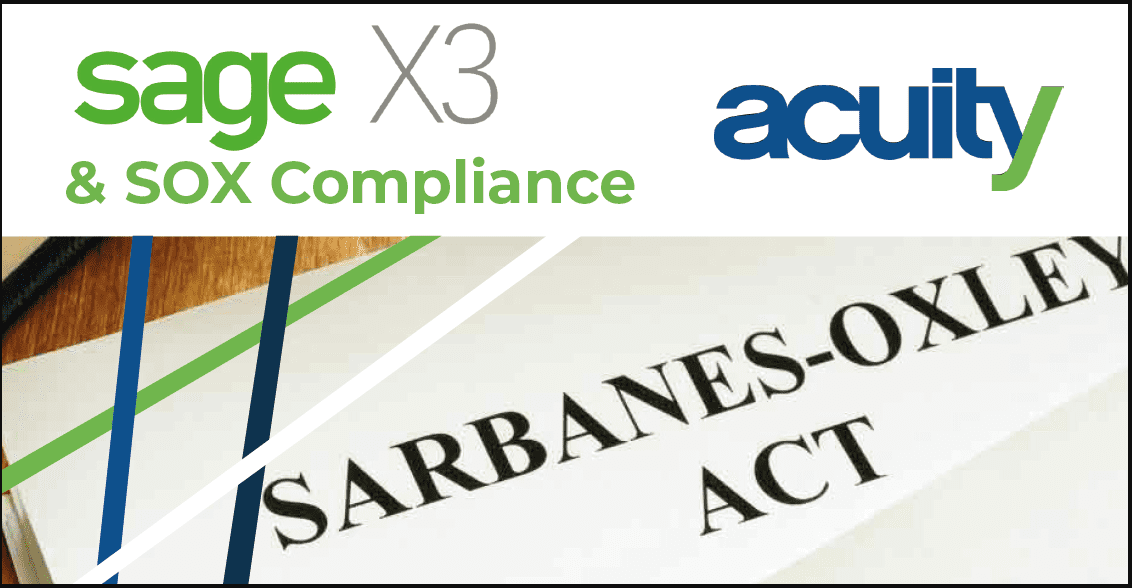 sage x3 and sox compliance