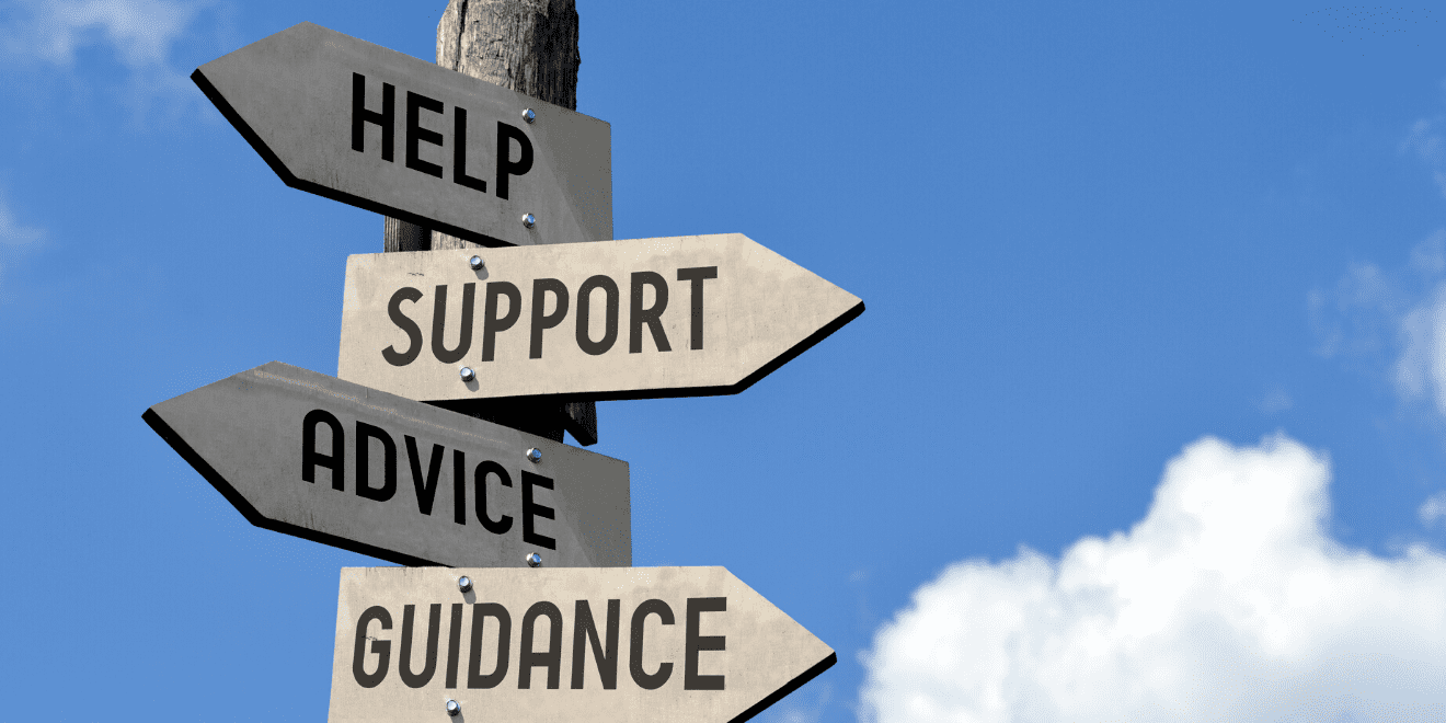 sign post - help support advice guidance
