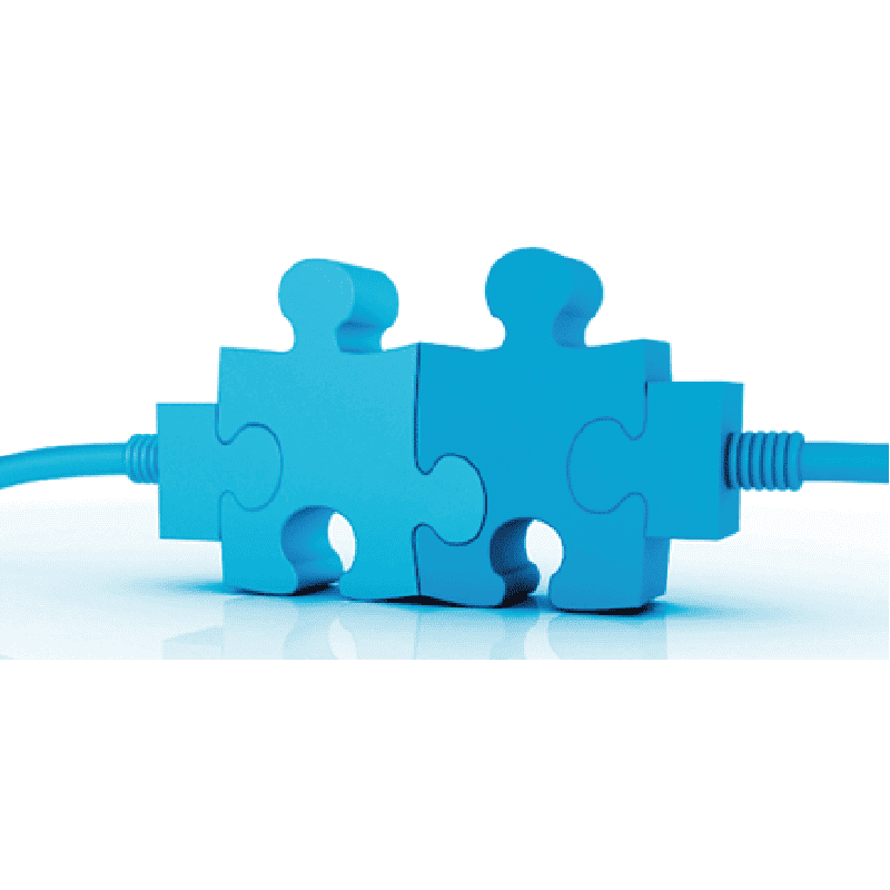 2 puzzle pieces connecting