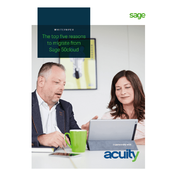 Reasons to Migrate from Sage 50cloud to Sage Intacct Whitepaper