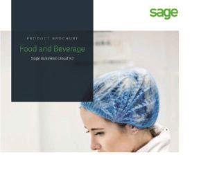 Sage X3 food and bev brochure snippet