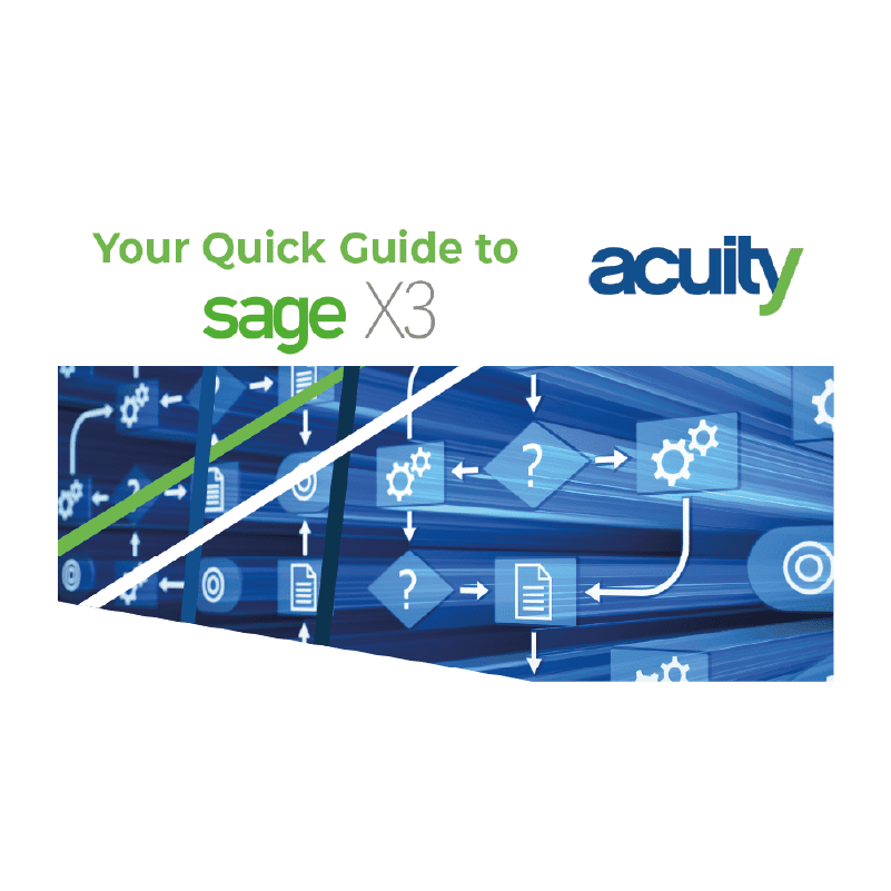 sage x3 quick guide