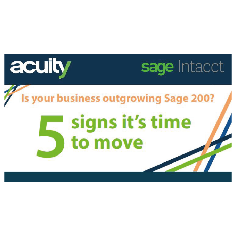 Sage 200 to Sage Intacct Infographic Snippet