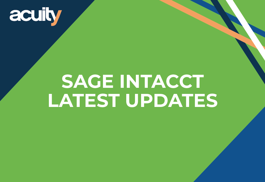 sage intacct update